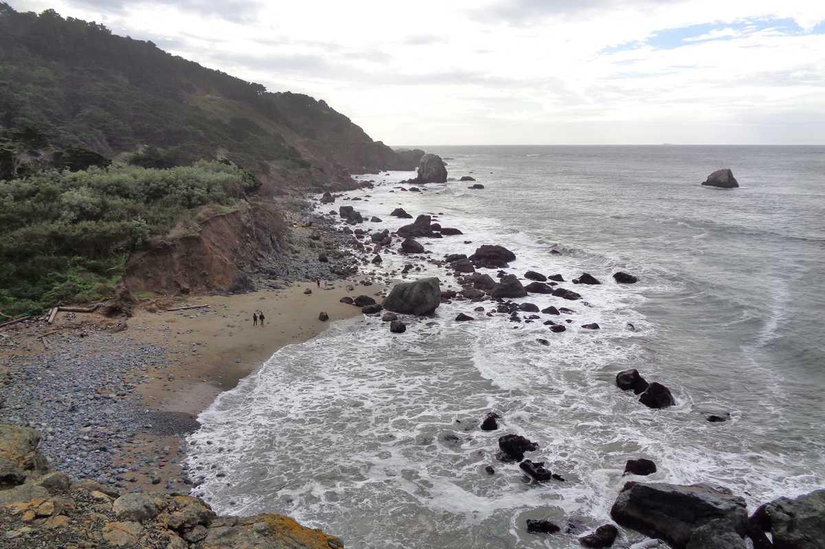 Mile Rock Beach im Lands End Trail