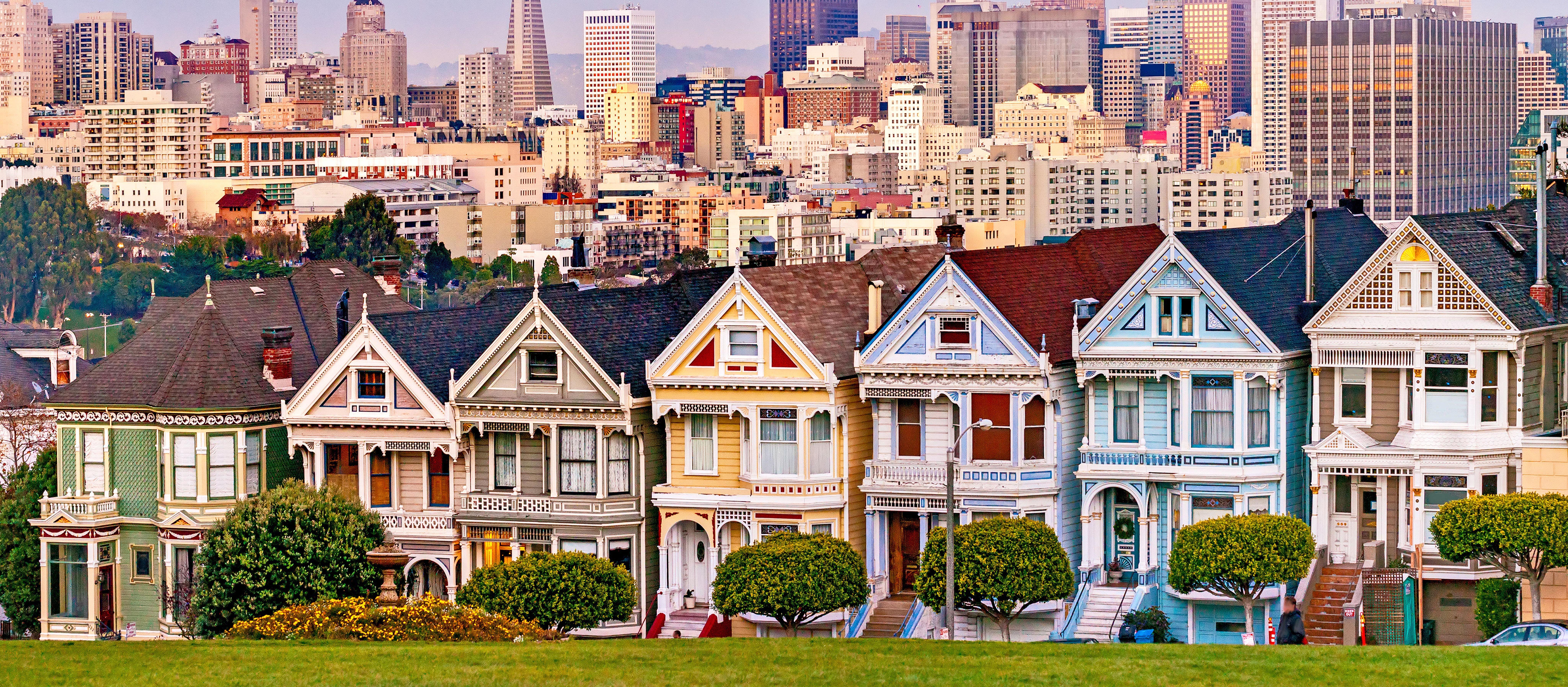 Painted Ladies: farbenprächtige viktorianische Holzhäuser in San Francisco