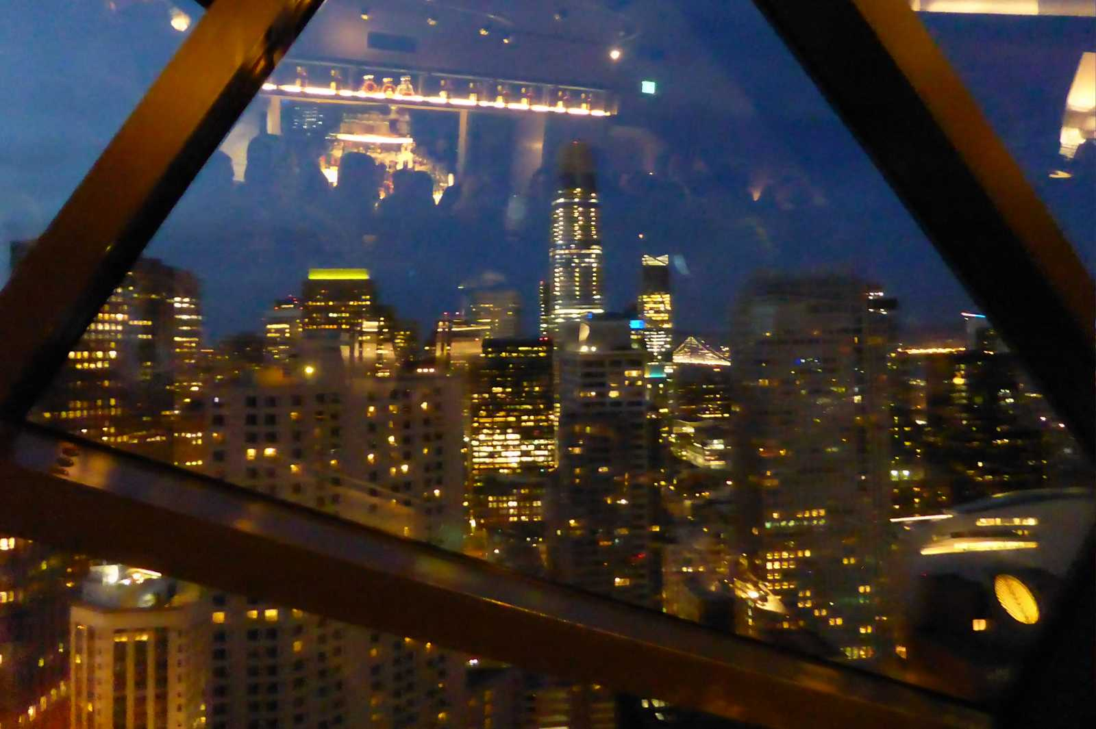 Der Ausblick aus der The View Lounge in San Francisco