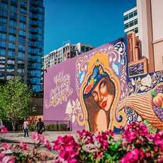 """Das """"Vida Abundante Wandgemälde"""" in San José"""