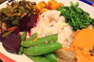 Veganes Essen im Big Sky Café in San Luis Obispo Kalifornien kosten
