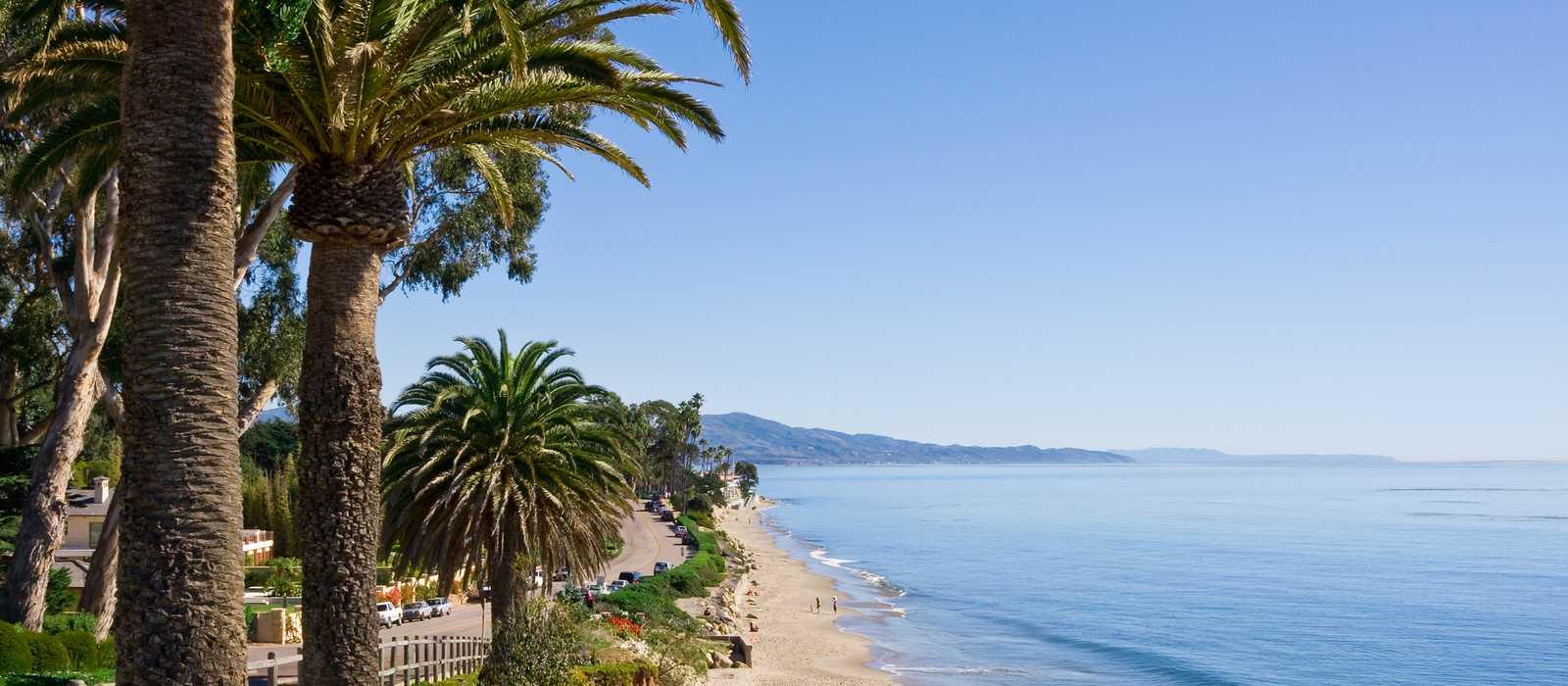 Butterfly Beach am Channel Drive in Santa Barbara, Kalifornien