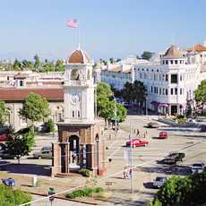 Die Altstadt von Santa Cruz in Kalifornien, USA