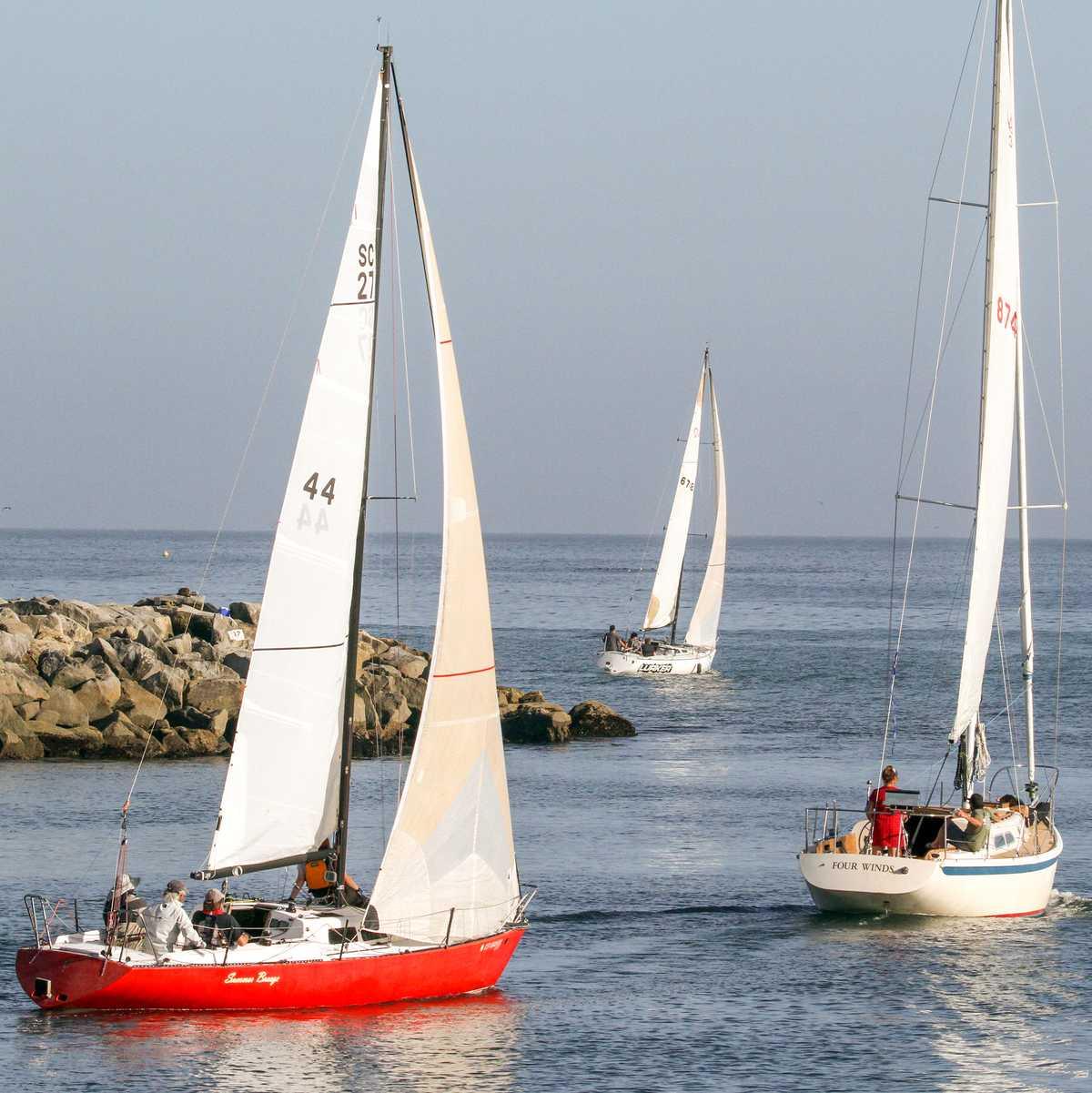 Teilnehmer des Wednesday Sailboat Races in Santa Cruz
