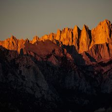 Mt. Whitney, right, the highest peak in the lower 48 state near Lone Pine, California.