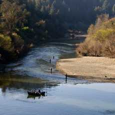 Sonoma County, Bootsausflug auf einem Fluss