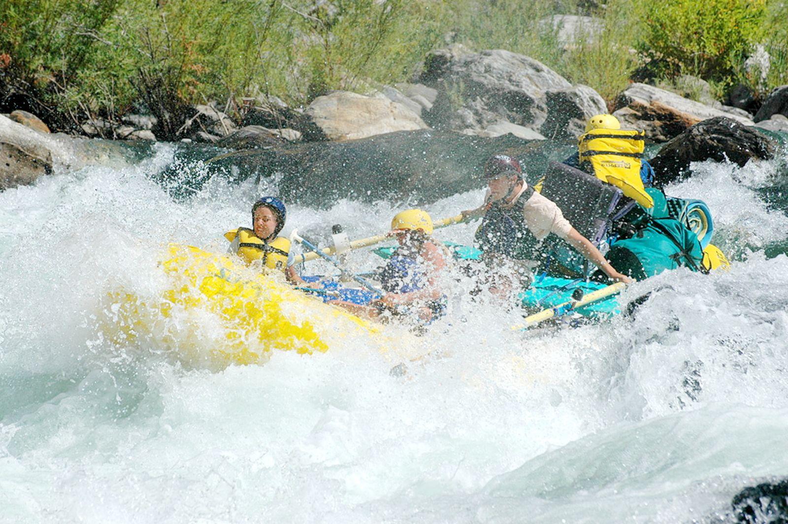 Rafting auf dem Merced River