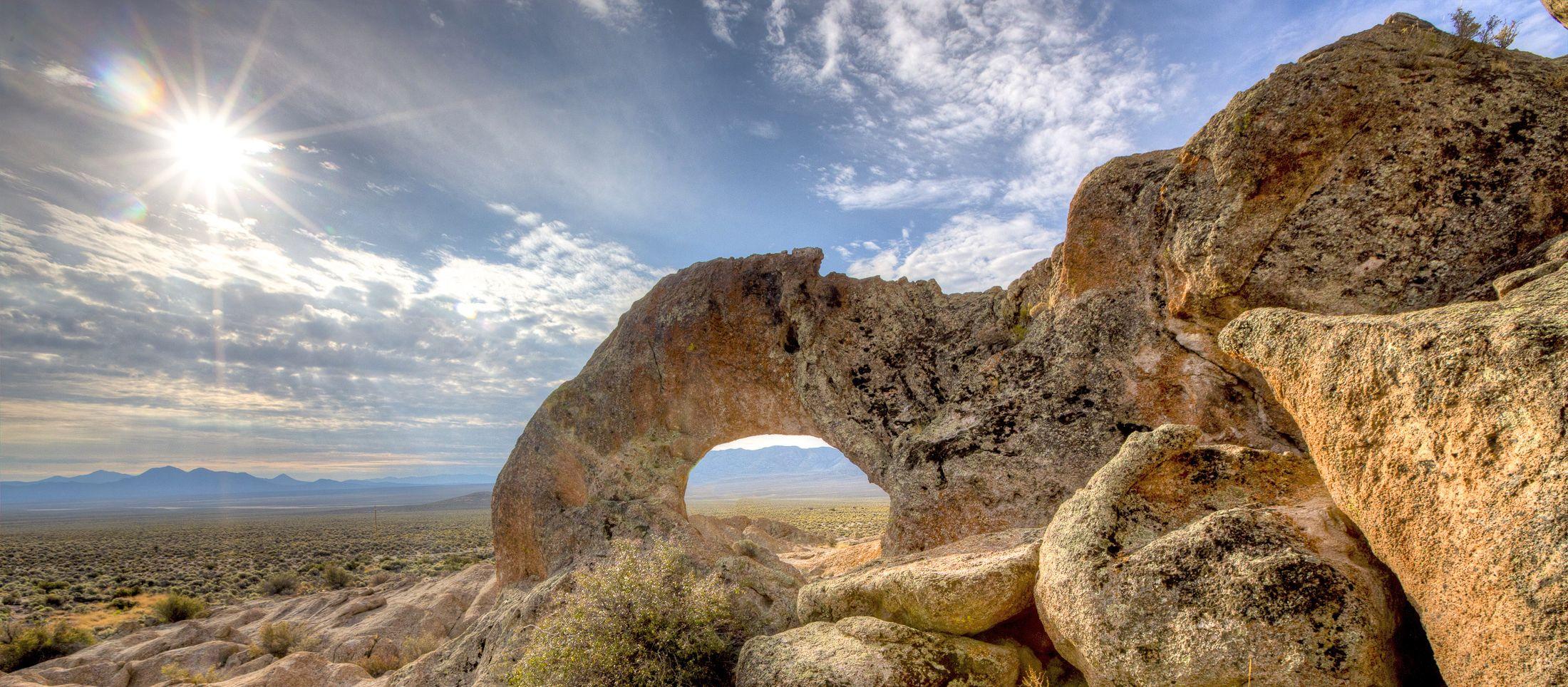 Felsformation im Basin and Range National Monument, Nevada