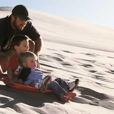 Rodeln in den Sanddünen