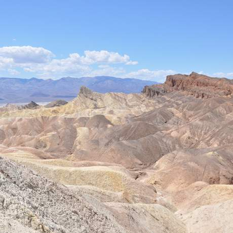 Ausblick am Zabriskie Point im Death Valley