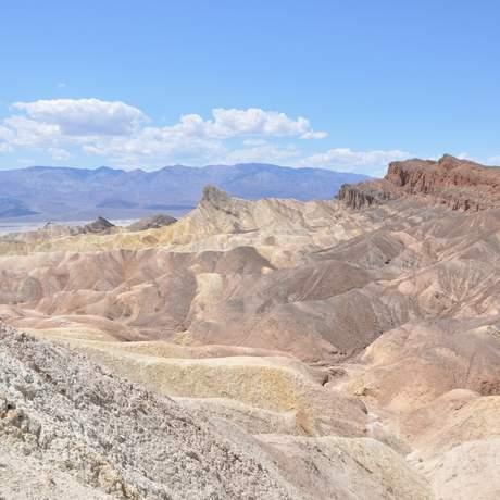 Ausblick am Zabriskie Point im Death Valley