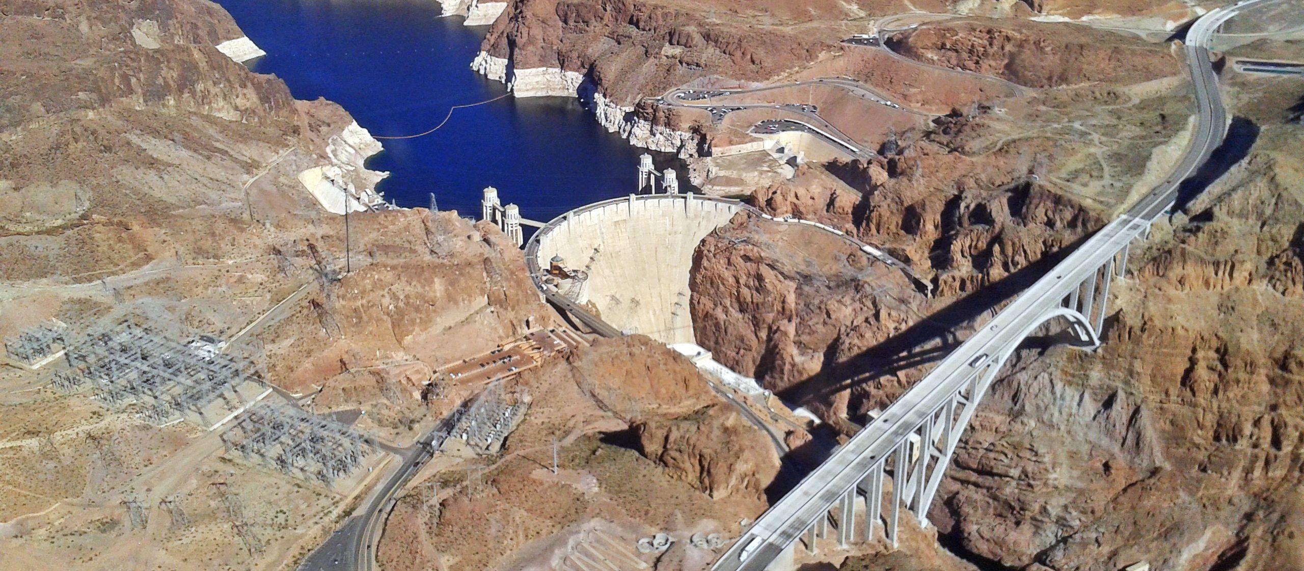 Blick auf den Hover Dam