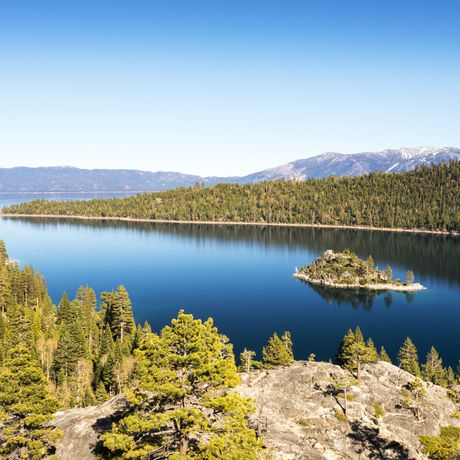 Lake Tahoe South Spring Landscape, Nevada