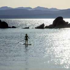 Paddling on Lake Tahoe