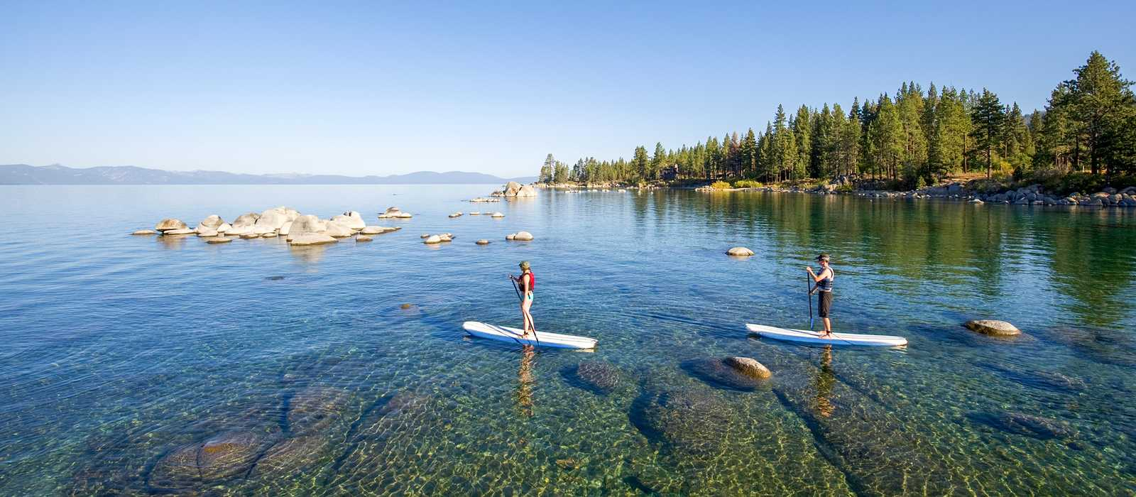 Die Zephyr Cove am Lake Tahoe in den USA