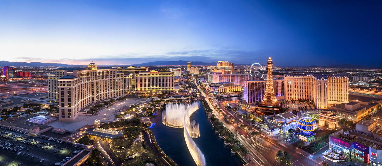 Las Vegas am Abend, Las Vegas, Nevada