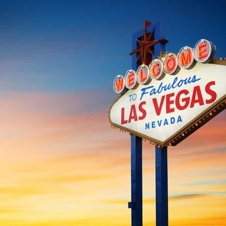 Welcome to Fabulous Las Vegas Schild, Nevada; USA