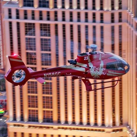 Hubschrauber am Palazzo