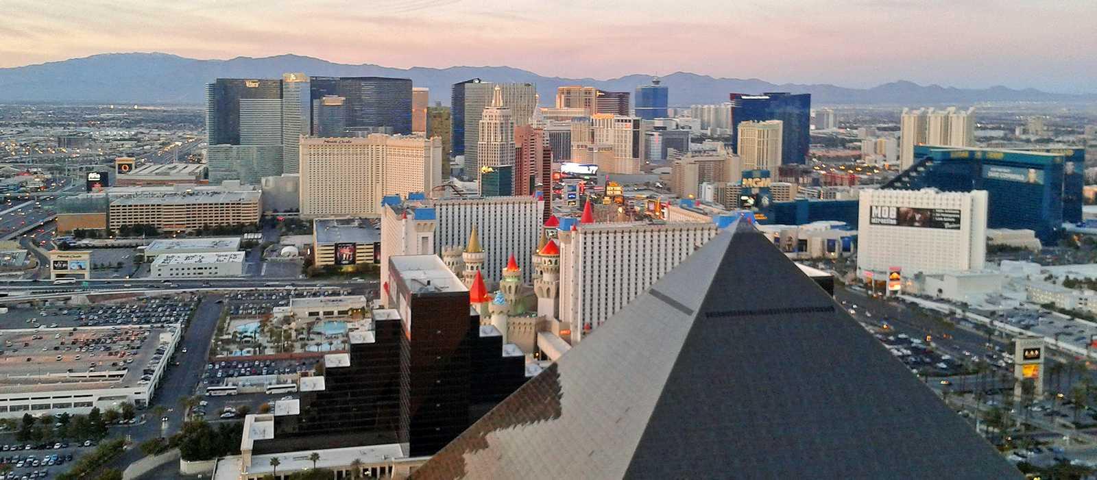 Blick über den Las Vegas Strip