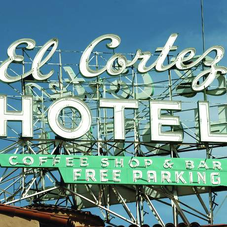 Leuchtreklame des El Cortez Hotels in Las Vegas, Nevada