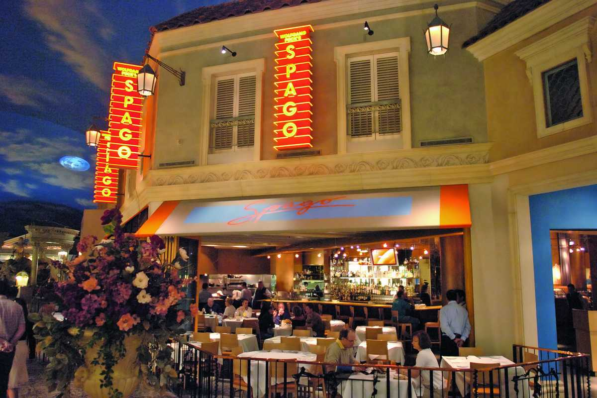 Das Spago Restaurant im Forum Shops at Caesers, Las Vegas