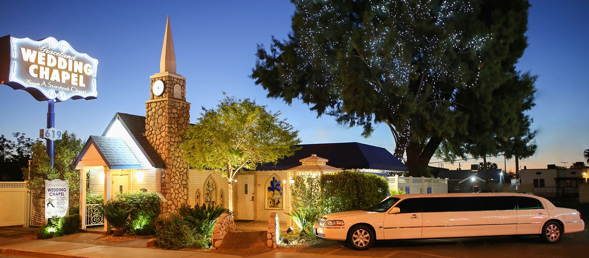 Die Graceland Wedding Chapel in Las Vegas