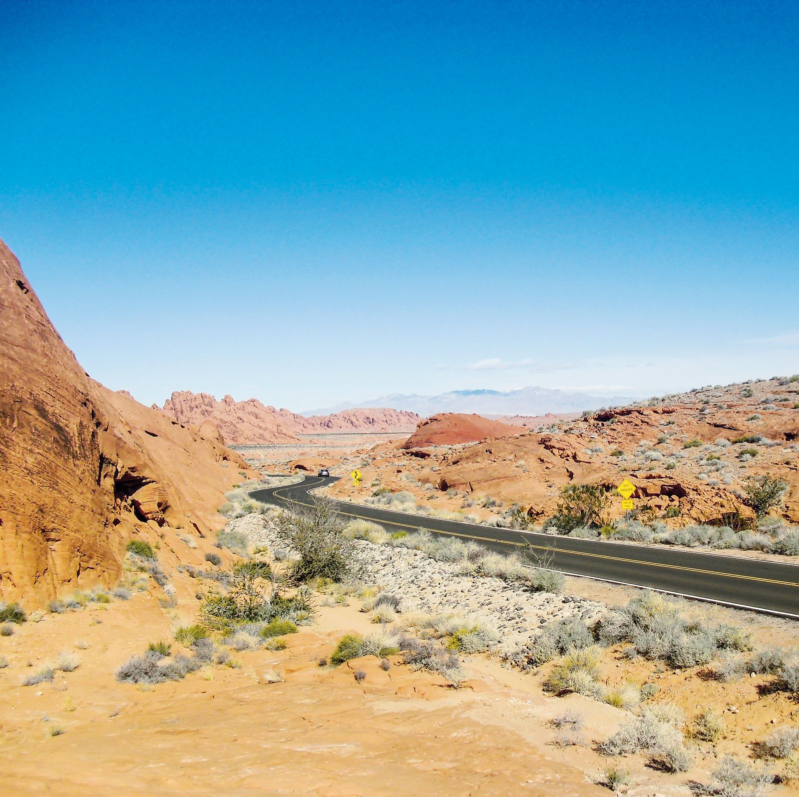 Strasse durch das Valley of Fire