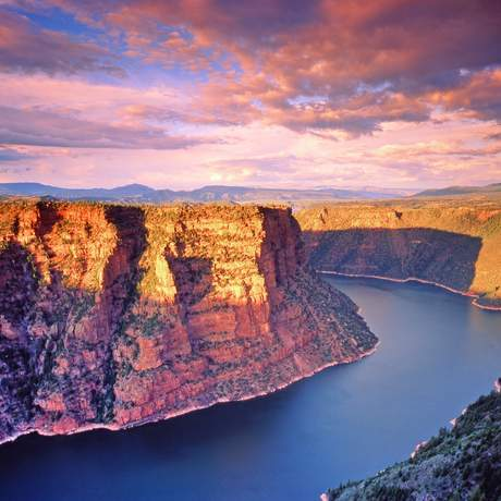 Abendliches Panorama des Red Canyons, Flaming Gorge Country
