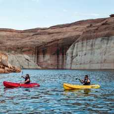 Kayakers, Lake Powell National Recreation Area