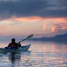 Kayaking Great Salt Lake, Antelope Island Kayaker