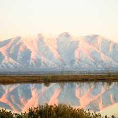 Der Utahsee mit Bergpanorama
