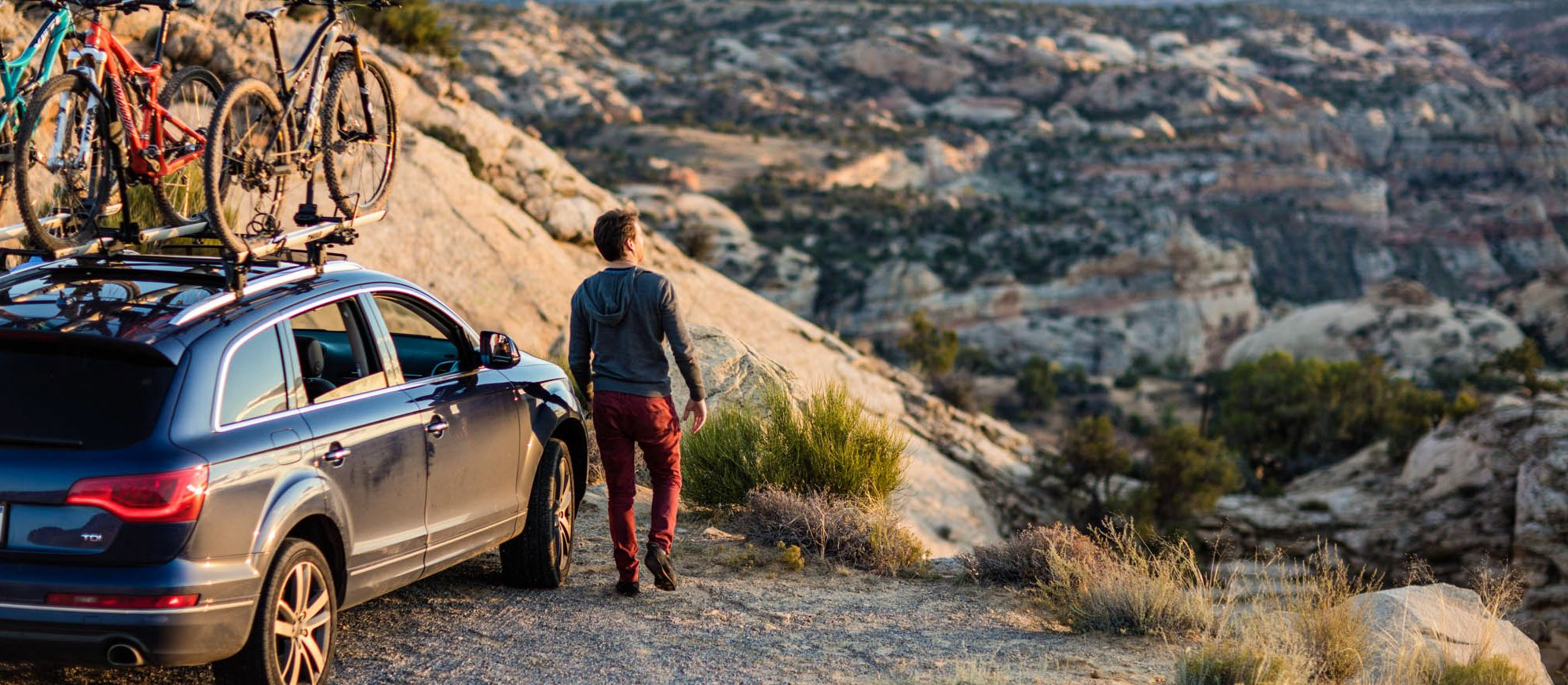 Eine Kurze Pause machen und den Ausblick auf den Bryce Canyon Nationalpark genießen