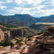 Hikers taking the View, Capitol Reef National Park