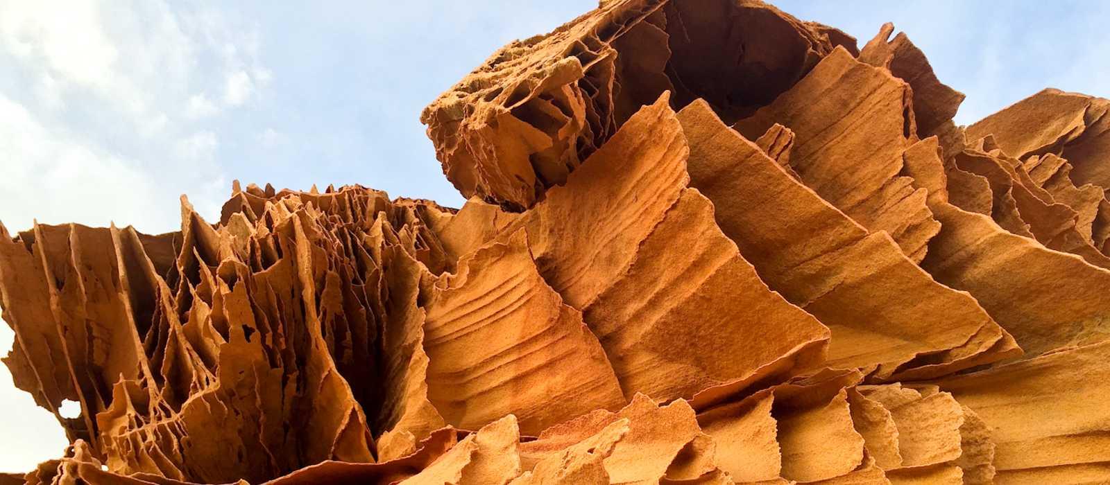 Eine Felsformation im Buckskin Gulch Gebiet in Utah