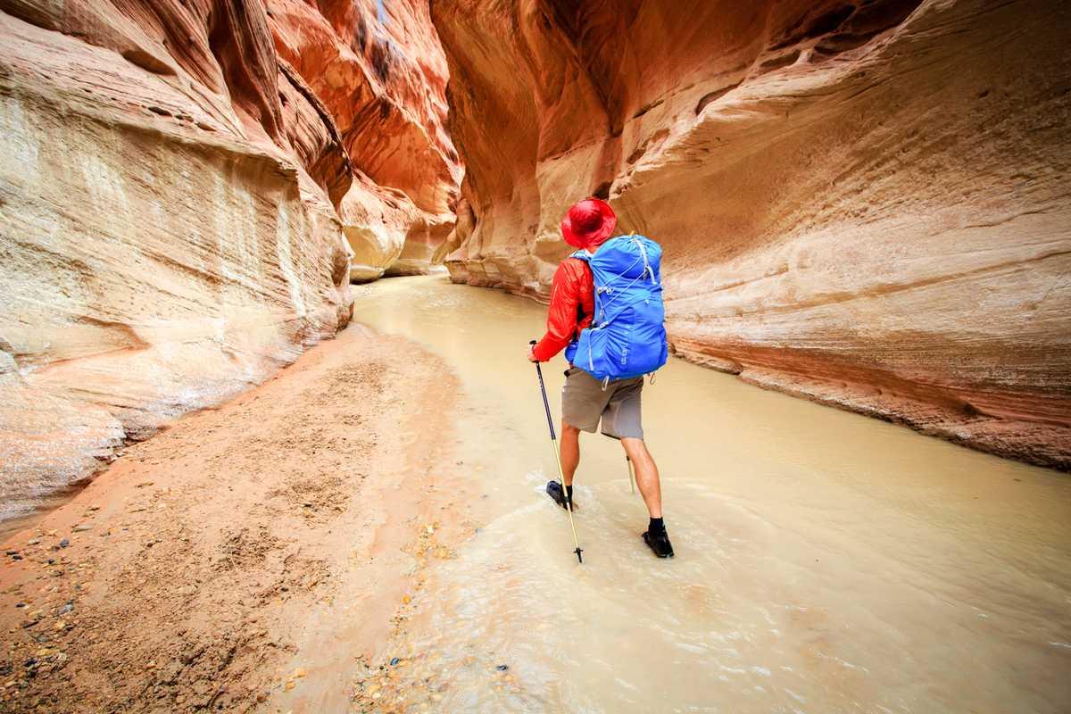 Eine Wanderung durch den Buckskin Gulch in Utah