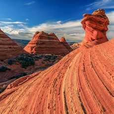Impressionen des Coyote Buttes Gebirgszuges im Vermilion Cliffs National Monument in Utah