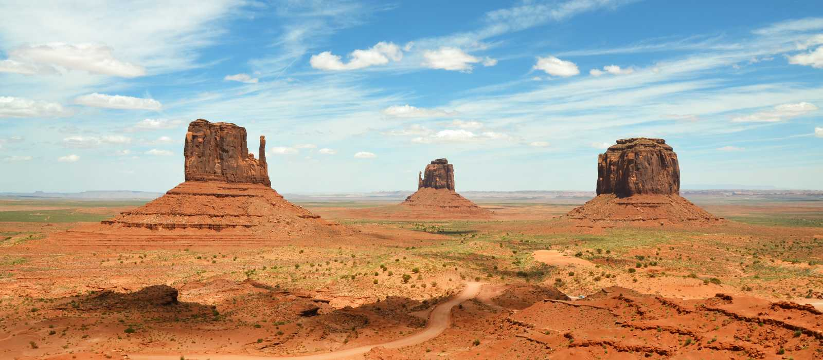 Der Ausblick von dem Monument Valley in Utah