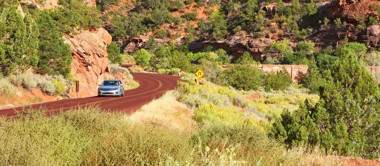 Autofahrt zum Zion National Park