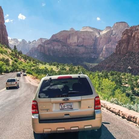 Stopp im Zion National Park