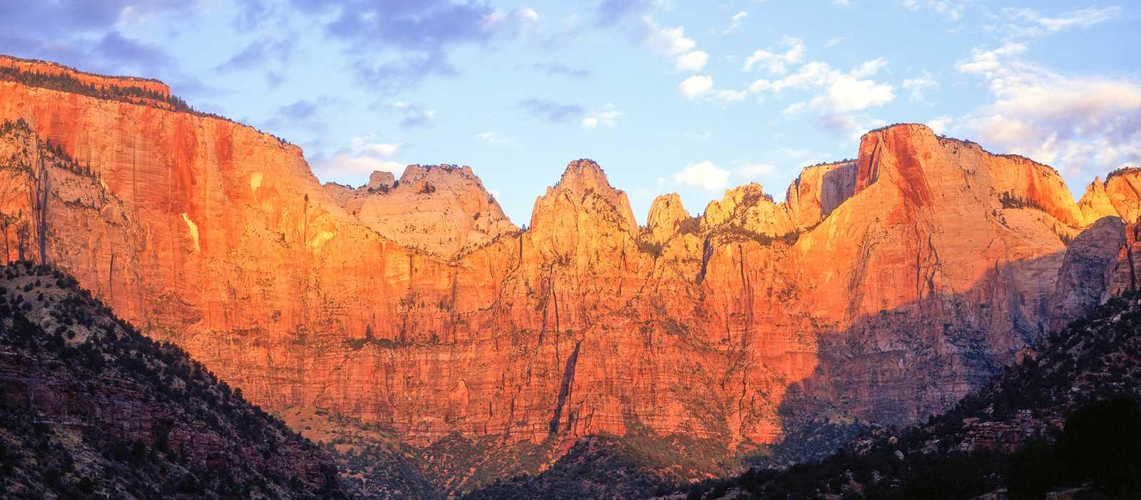 Der Zion Nationalpark im Licht der Abendsonne