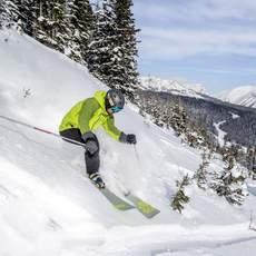 Skifahrer im Sunshine Village, Kanada