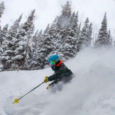 Skifahrer auf Piste am Aspen Mountain