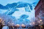 Ansicht des schneeweißen Berges