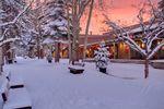 Winteridylle im verschneiten Aspen Snowmass