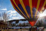 Mit dem Heißluftballon über die Skigebiete Aspen und Snowmass