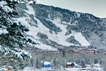 Schnee in Aspen: Tagesansicht
