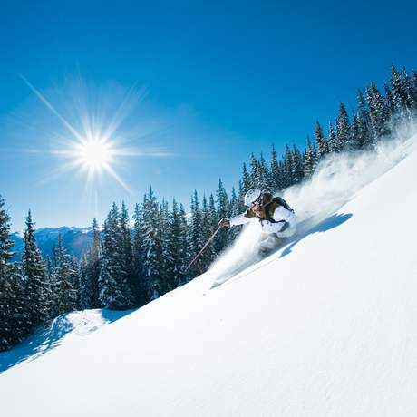 Kiffor Berg skiing in the Aspen backcountry, Aspen, Colorado