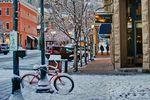 Schnee auf den Straßen von Aspen
