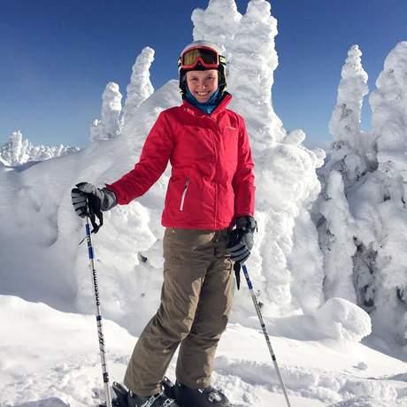 Mitarbeiter Miriam im Big White Ski Resort