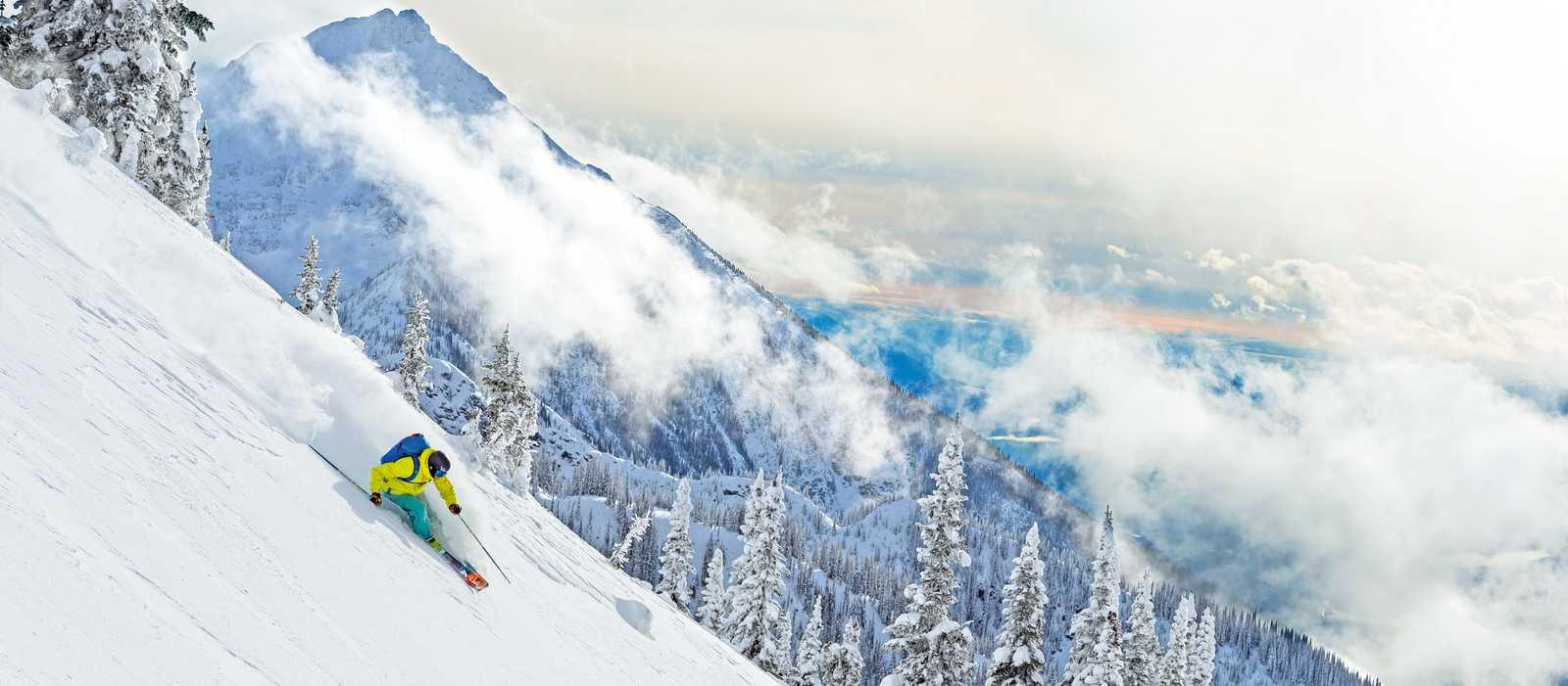 KC Deane skiing at Revelstoke